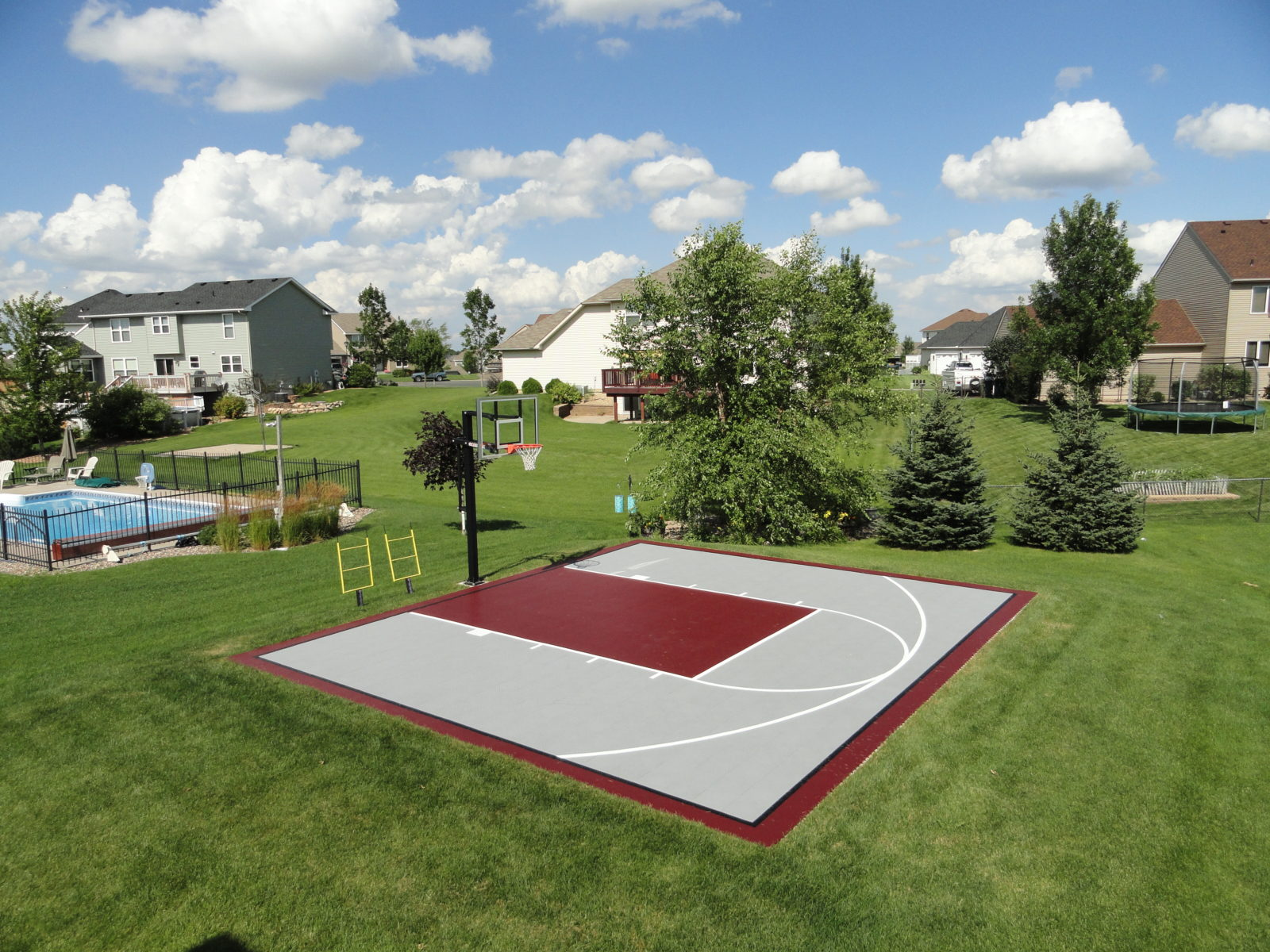 Outdoor Basketball Courts   Game Courts   Millz House ...