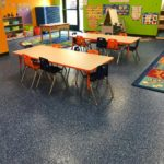 Millz House Custom Blend Floor Coating at Edina Daycare