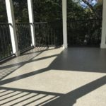 Covered concrete porch floor coating project