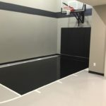 Millz House custom floor coating game court featured in 2018 Fall Parade of Homes in Plymouth