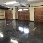 Millz House custom garage floor coating in metallic