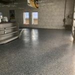high performance floor coating installed at Soapy Joes car wash