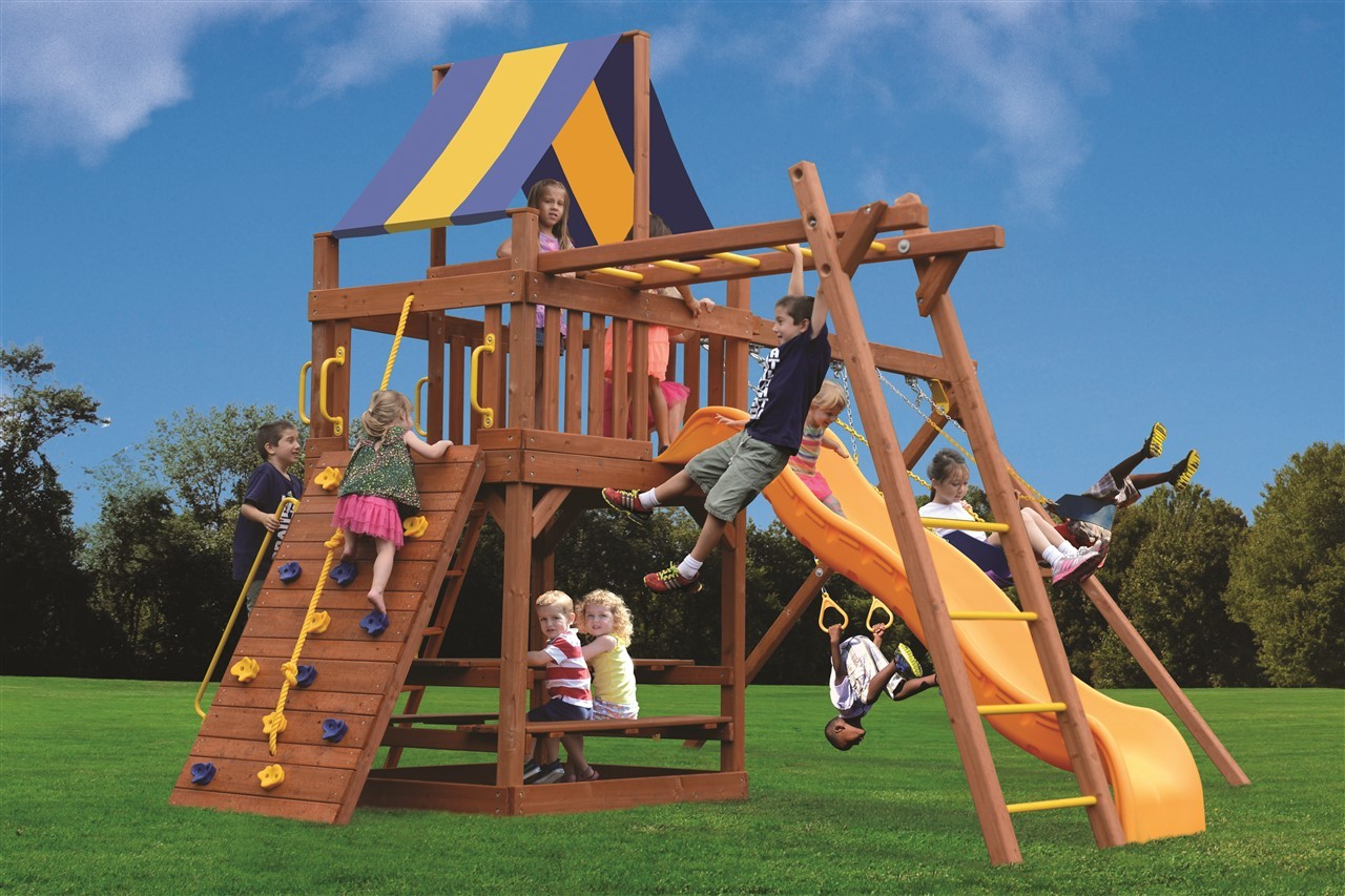 Millz House sells Playground One Original Fort Combo 3 Playset with Monkey Bars