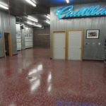 Millz House installed a beautiful functional durable floor coating in this commercial garage facility