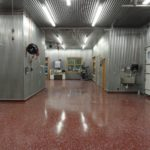 Commercial floor coating in large garage