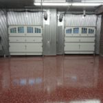 Floor coating project in a large commercial garage