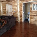 northwoods cabin family room floor coating project