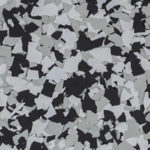 Millz House Floor Coating Color Sample in Domino All Chip