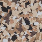Millz House Floor Coating Color Sample in Outback All Chip