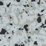 Millz House Floor Coating Color Sample in Quicksilver All Chip