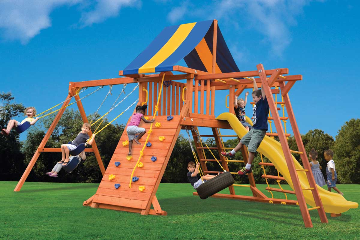 Playground One Turbo Original Playcenter Combo 3 with Monkey Bars