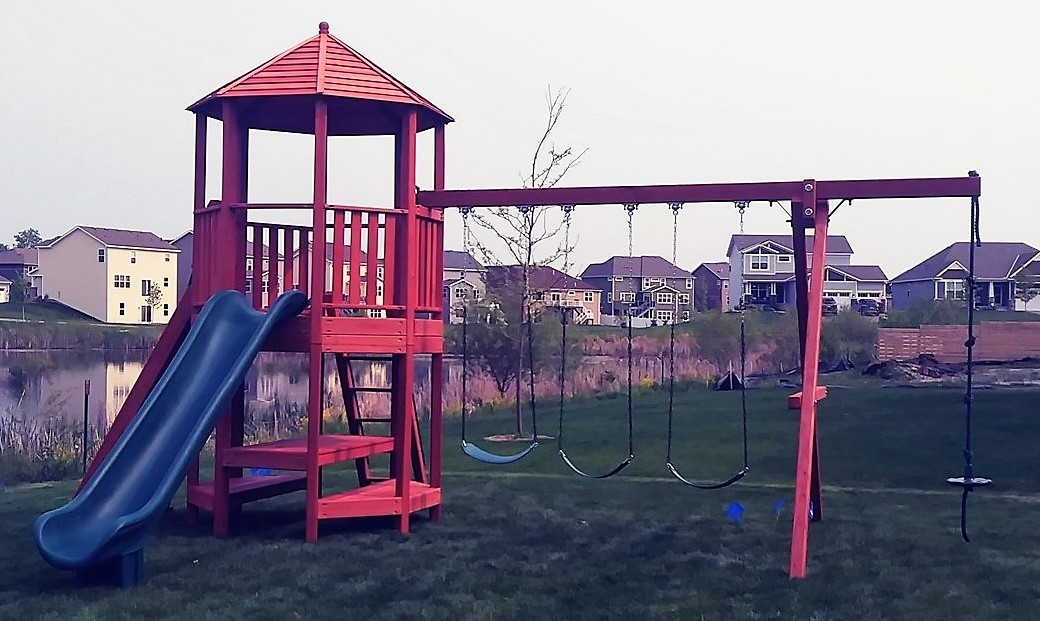 Playground One Turbo Deluxe Playzebo Installed in Blaine MN